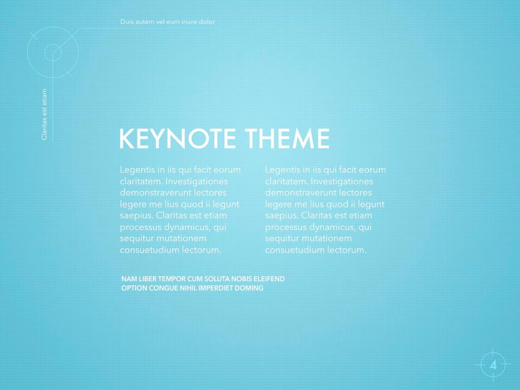 Blue Chip Keynote Presentation Template, Slide 4, 04536, Presentation Templates — PoweredTemplate.com