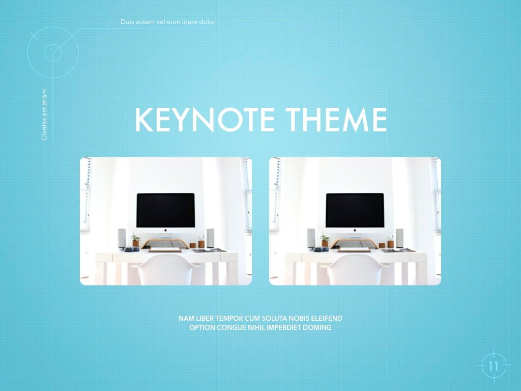 Blue Chip Keynote Presentation Template, Slide 8, 04536, Presentation Templates — PoweredTemplate.com