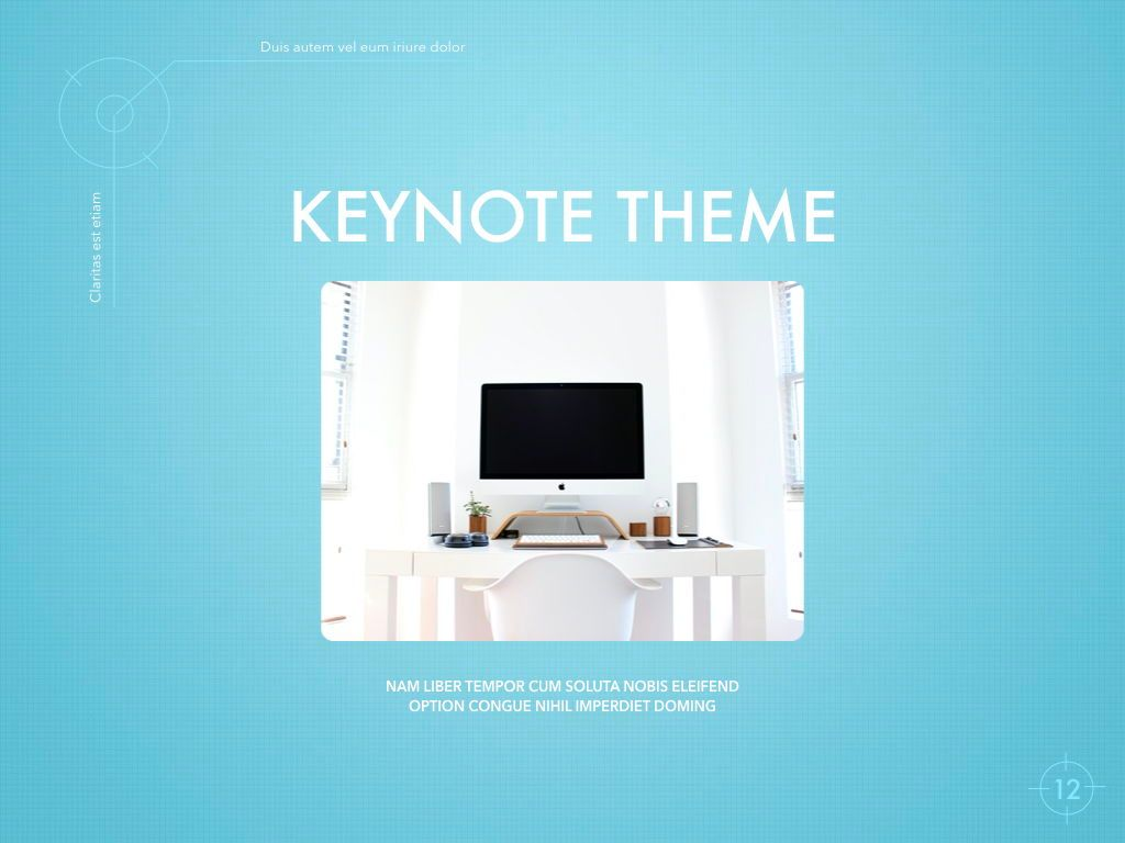 Blue Chip Keynote Presentation Template, Slide 9, 04536, Presentation Templates — PoweredTemplate.com