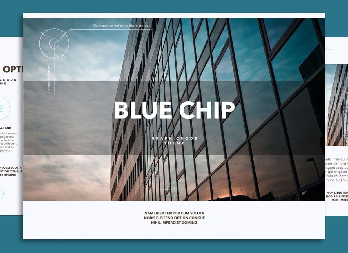Blue Chip 02 Keynote Presentation Template, 04537, Präsentationsvorlagen — PoweredTemplate.com