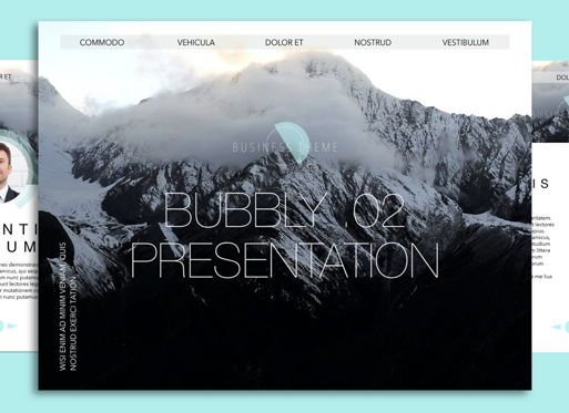 Presentation Templates: Bubbly 02 Keynote Presentation Template #04540