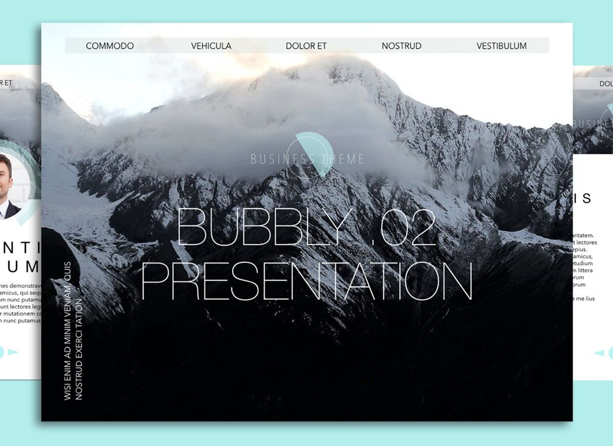 Bubbly 02 Keynote Presentation Template, 04540, Presentation Templates — PoweredTemplate.com