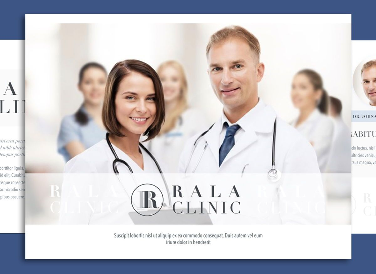 Clinical Keynote Presentation Template, 04541, Präsentationsvorlagen — PoweredTemplate.com