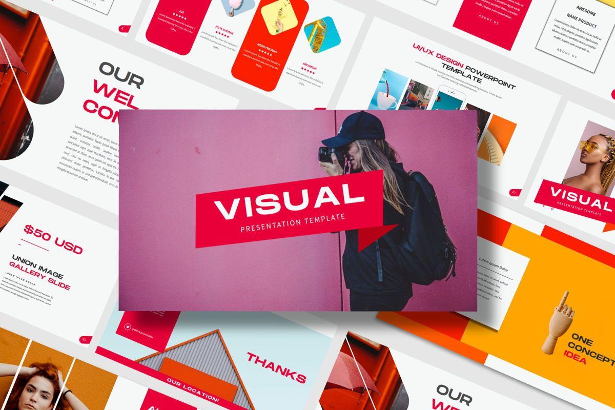 Visual - PowerPoint Template, 04544, Presentation Templates — PoweredTemplate.com