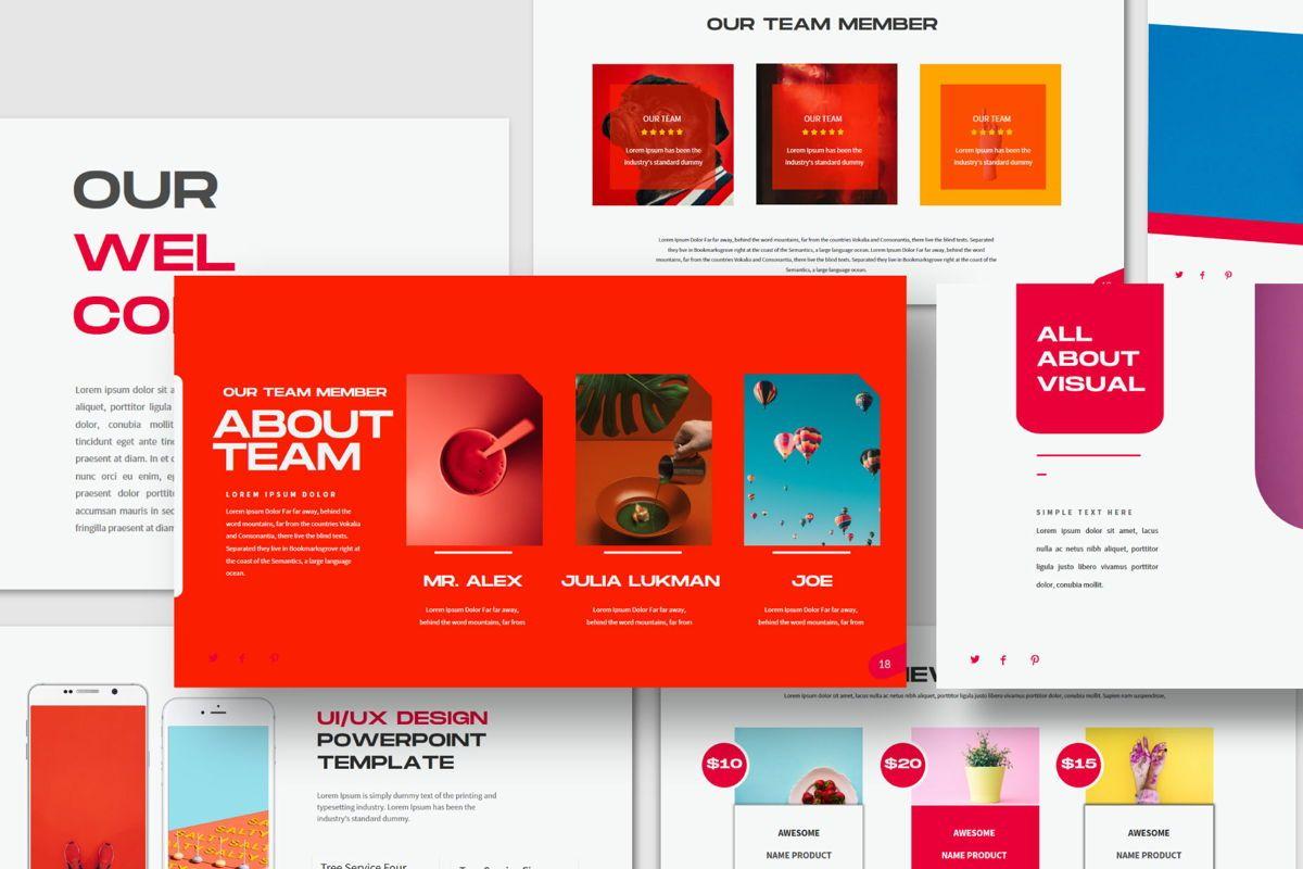 Visual - PowerPoint Template, Slide 2, 04544, Presentation Templates — PoweredTemplate.com