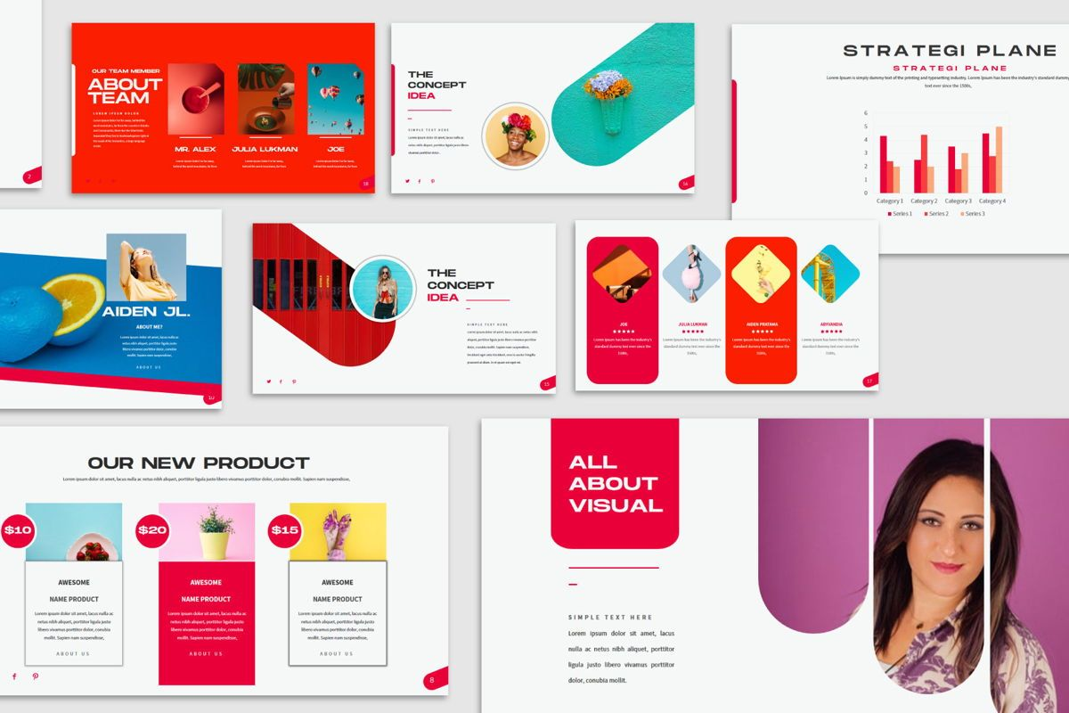 Visual - PowerPoint Template, Slide 5, 04544, Presentation Templates — PoweredTemplate.com