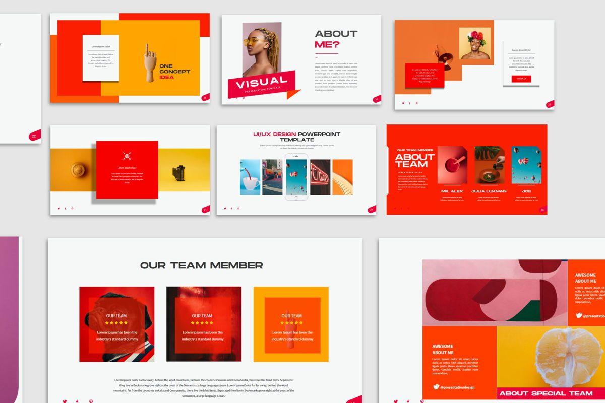 Visual - PowerPoint Template, Slide 6, 04544, Presentation Templates — PoweredTemplate.com