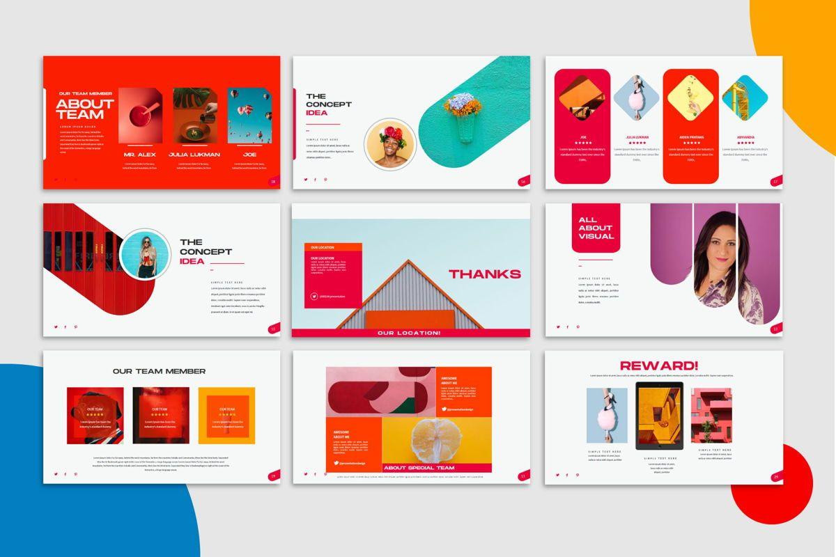 Visual - PowerPoint Template, Slide 7, 04544, Presentation Templates — PoweredTemplate.com