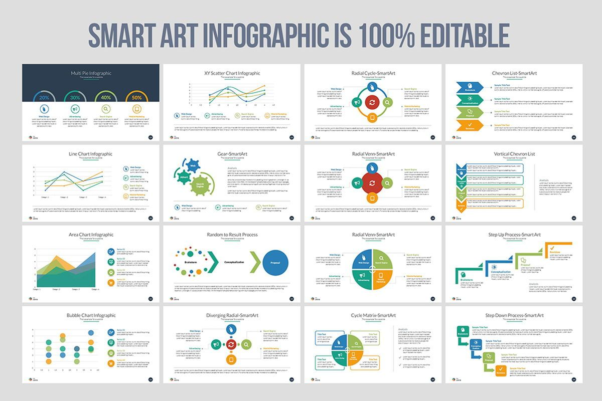 Infographic Business PowerPoint Presentation Template, Slide 10, 04545, Business Models — PoweredTemplate.com