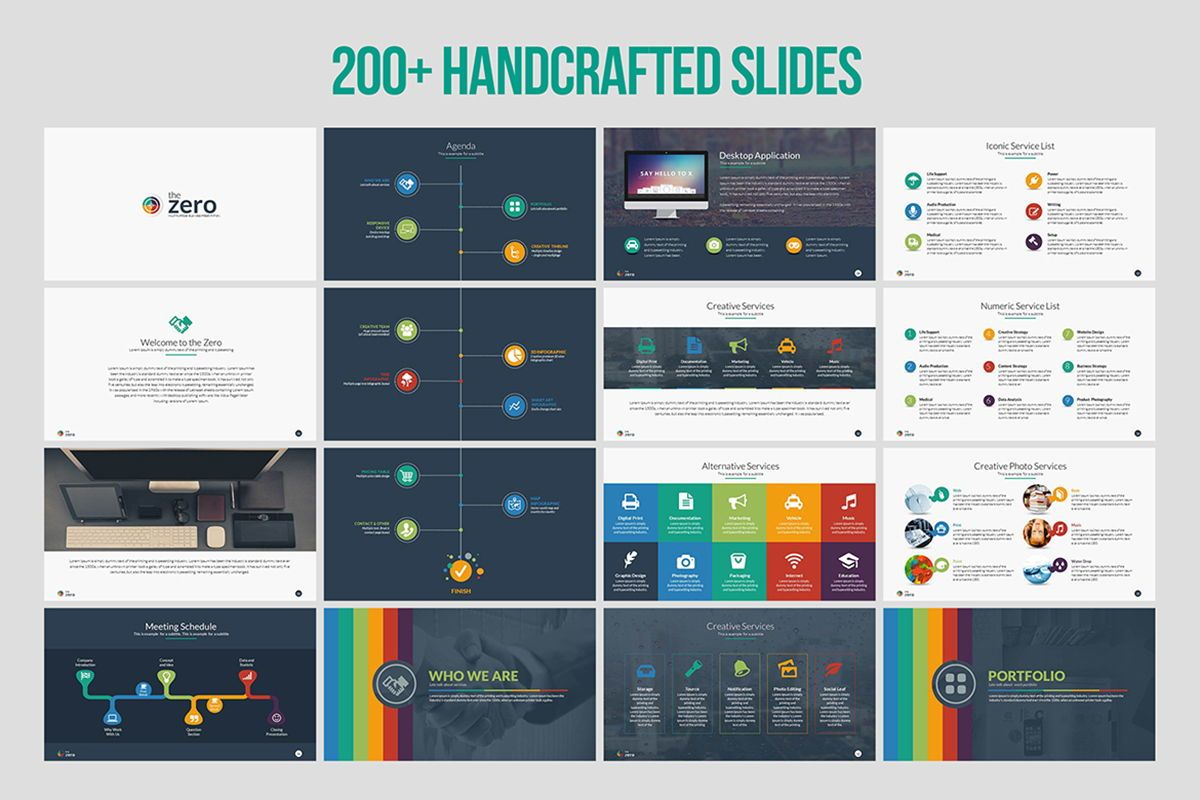 Infographic Business PowerPoint Presentation Template, Slide 2, 04545, Business Models — PoweredTemplate.com