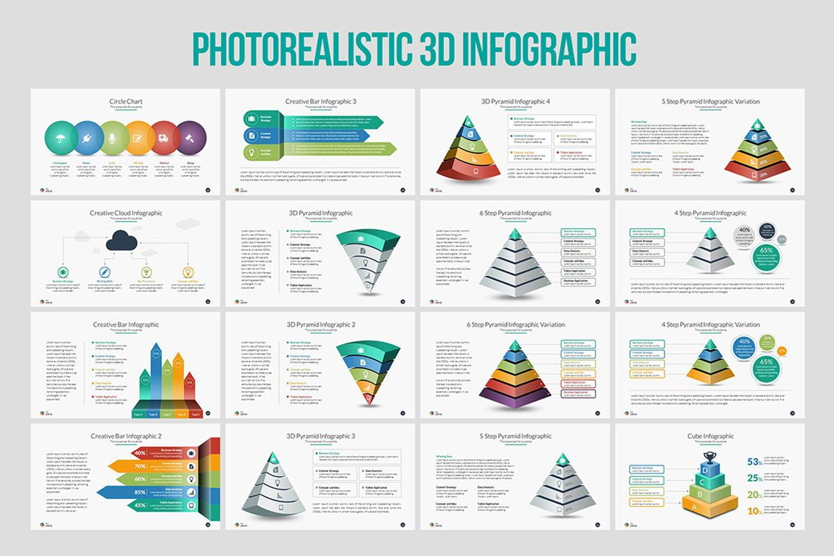 Infographic Business PowerPoint Presentation Template, Slide 6, 04545, Business Models — PoweredTemplate.com
