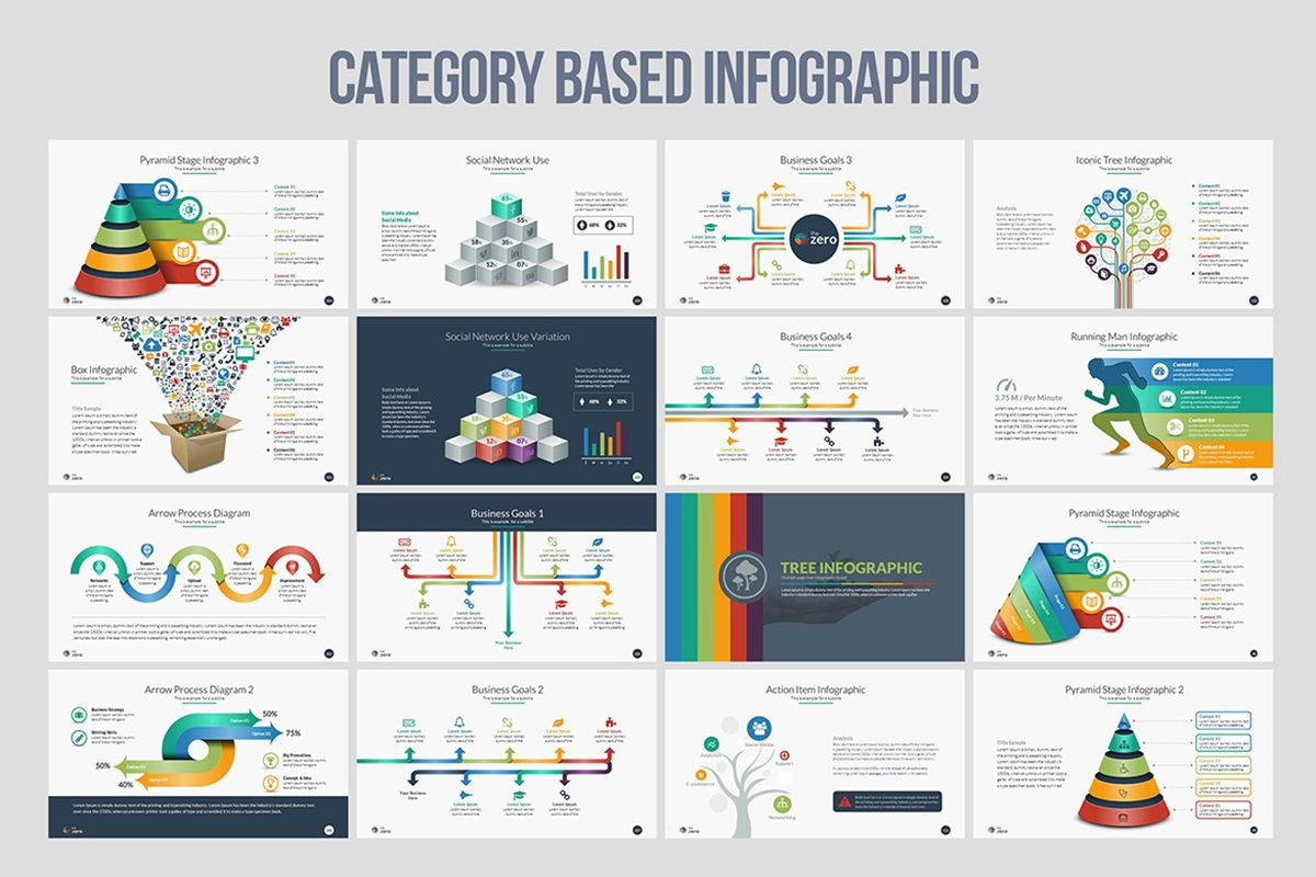 Infographic Business PowerPoint Presentation Template, Slide 8, 04545, Business Models — PoweredTemplate.com