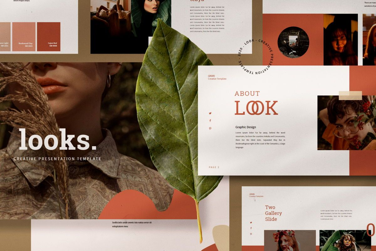 Look - PowerPoint Template, 04547, Presentation Templates — PoweredTemplate.com