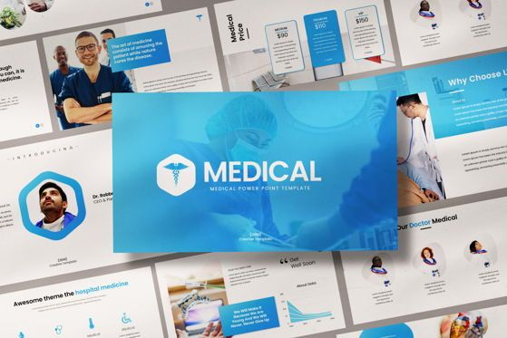 Presentation Templates: Medical - PowerPoint Template #04548