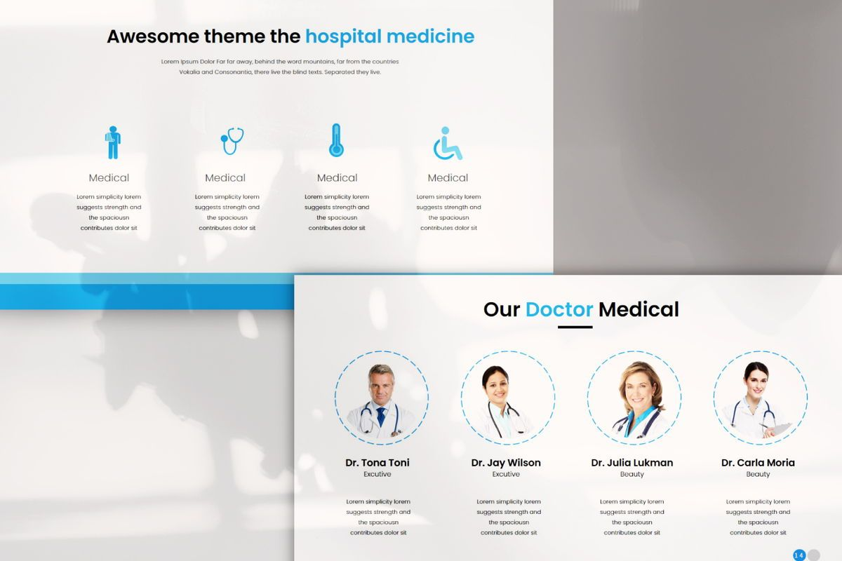 Medical - PowerPoint Template, Slide 4, 04548, Presentation Templates — PoweredTemplate.com