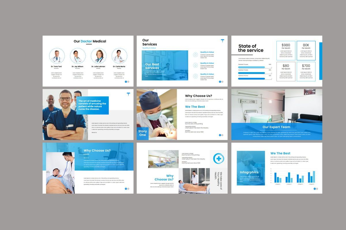 Medical - PowerPoint Template, Slide 6, 04548, Presentation Templates — PoweredTemplate.com