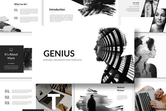 Presentation Templates: Genius - PowerPoint Template #04549