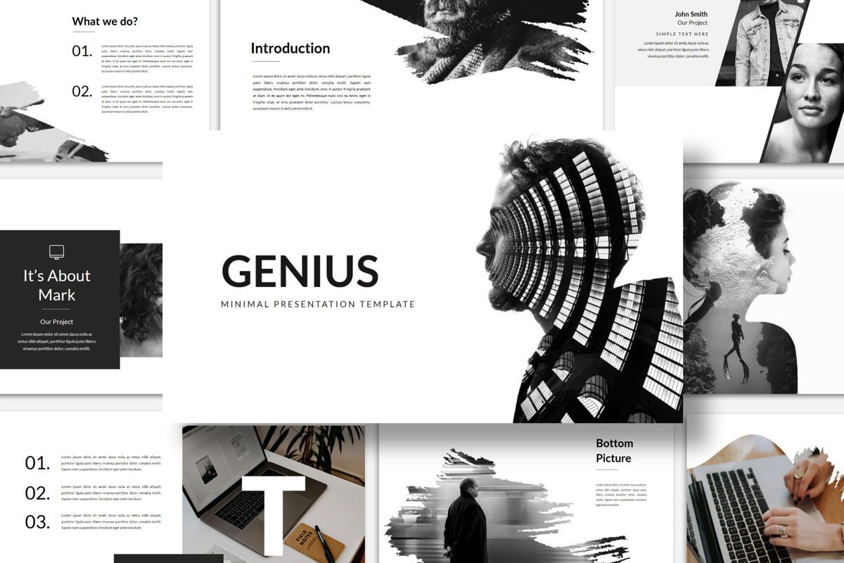 Genius - PowerPoint Template, 04549, Presentation Templates — PoweredTemplate.com
