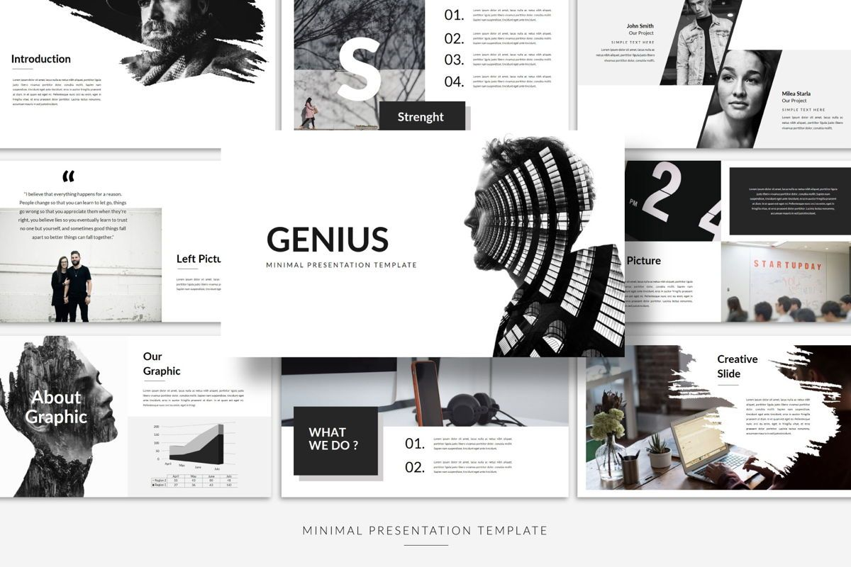 Genius - PowerPoint Template, Slide 2, 04549, Presentation Templates — PoweredTemplate.com
