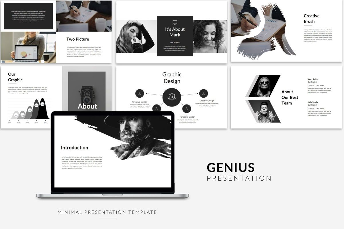 Genius - PowerPoint Template, Slide 3, 04549, Presentation Templates — PoweredTemplate.com