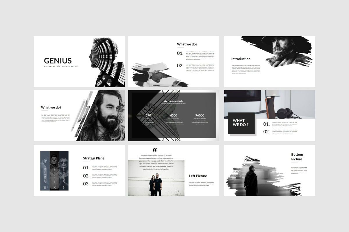 Genius - PowerPoint Template, Slide 5, 04549, Presentation Templates — PoweredTemplate.com