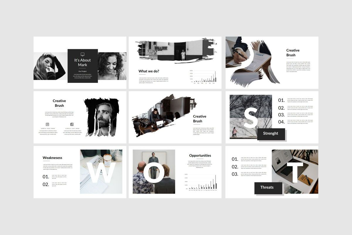 Genius - PowerPoint Template, Slide 7, 04549, Presentation Templates — PoweredTemplate.com