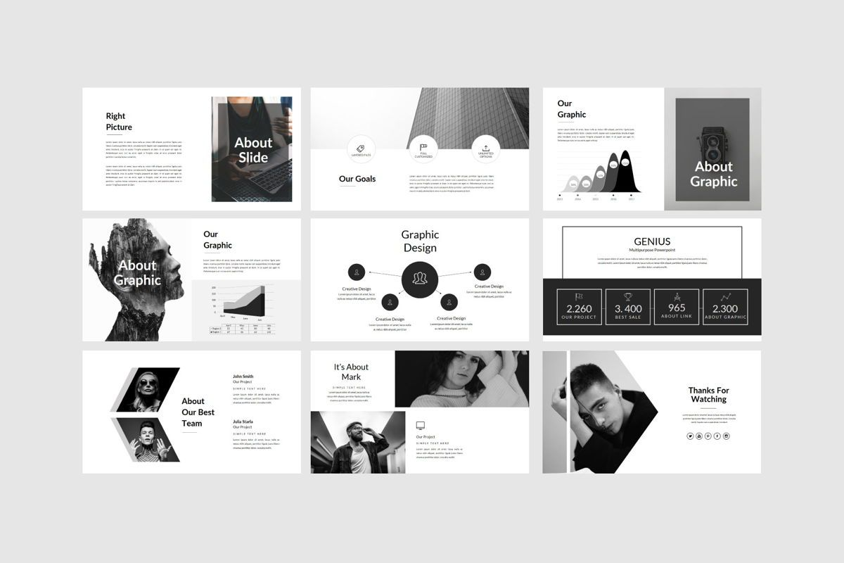 Genius - PowerPoint Template, Slide 8, 04549, Presentation Templates — PoweredTemplate.com