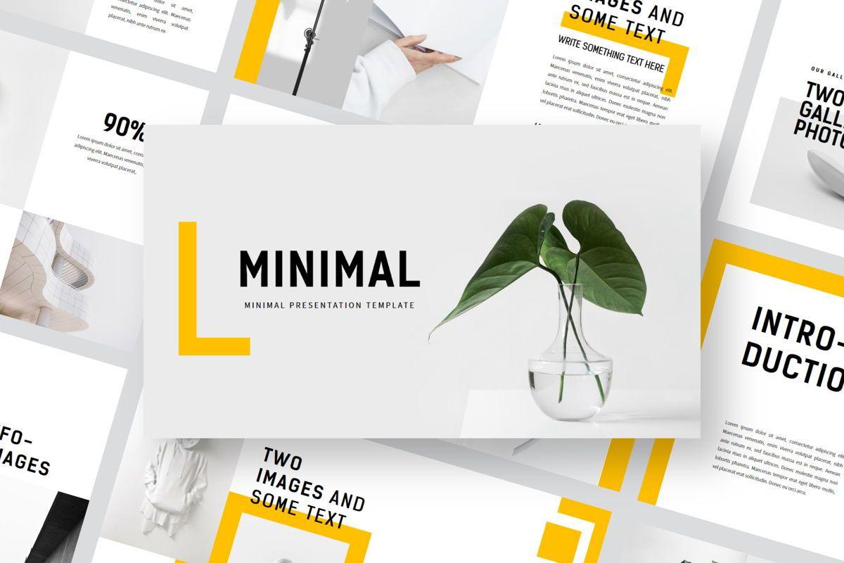 Minimal - PowerPoint Template, 04550, Presentation Templates — PoweredTemplate.com
