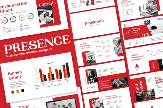Presentation Templates: Presence - PowerPoint Template #04551