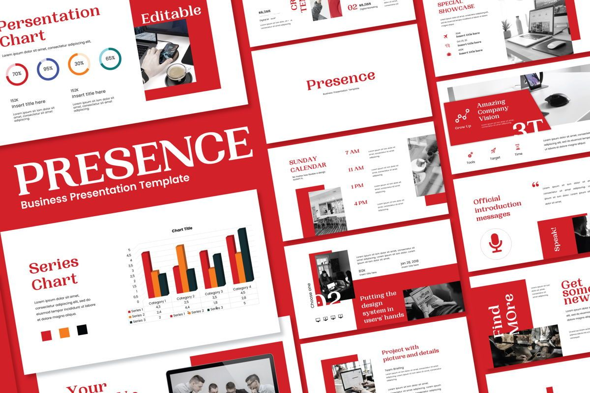 Presence - PowerPoint Template, 04551, Presentation Templates — PoweredTemplate.com