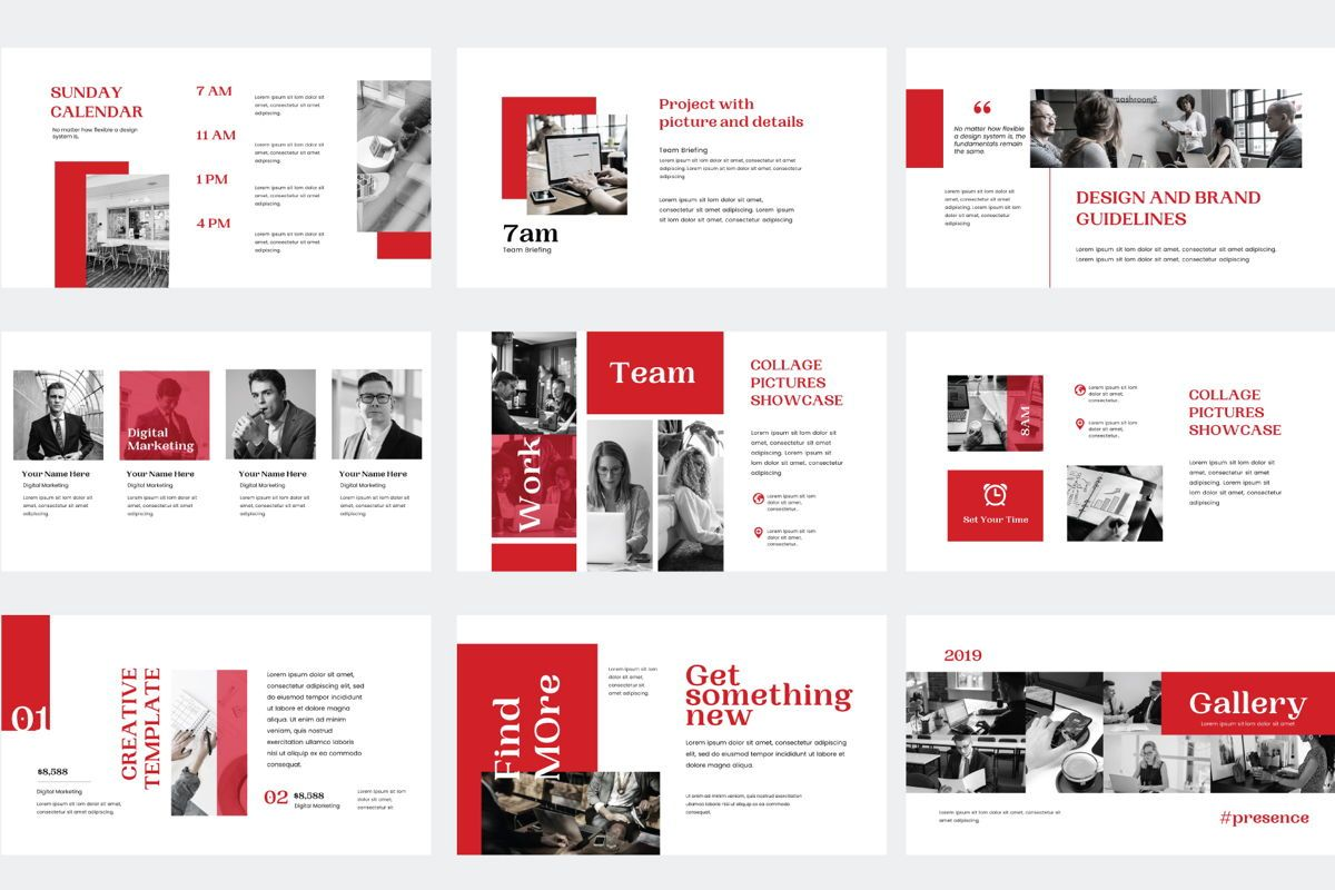 Presence - PowerPoint Template, Slide 4, 04551, Presentation Templates — PoweredTemplate.com