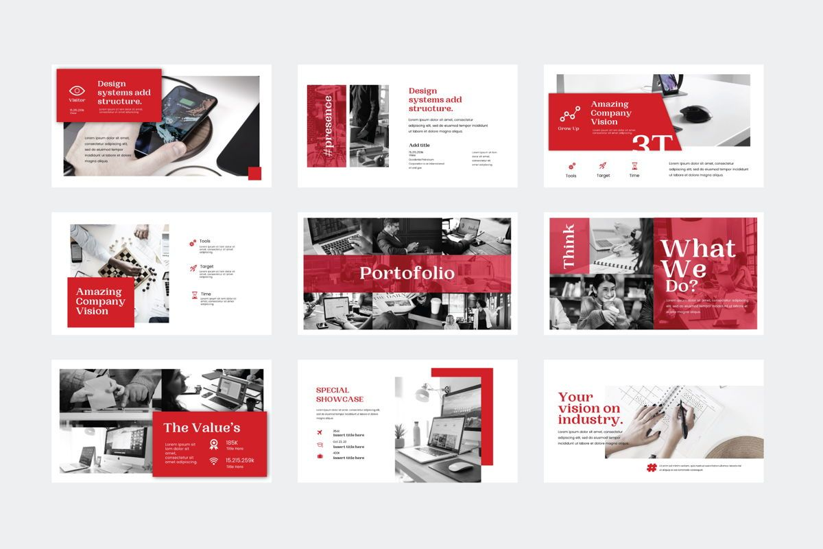 Presence - PowerPoint Template, Slide 6, 04551, Presentation Templates — PoweredTemplate.com