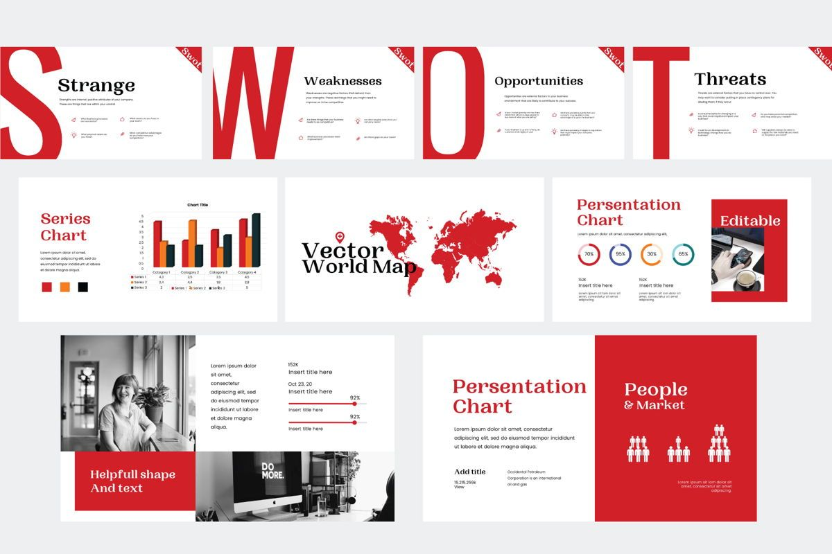 Presence - PowerPoint Template, Slide 7, 04551, Presentation Templates — PoweredTemplate.com