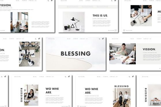 Presentation Templates: Blessing - PowerPoint Template #04552