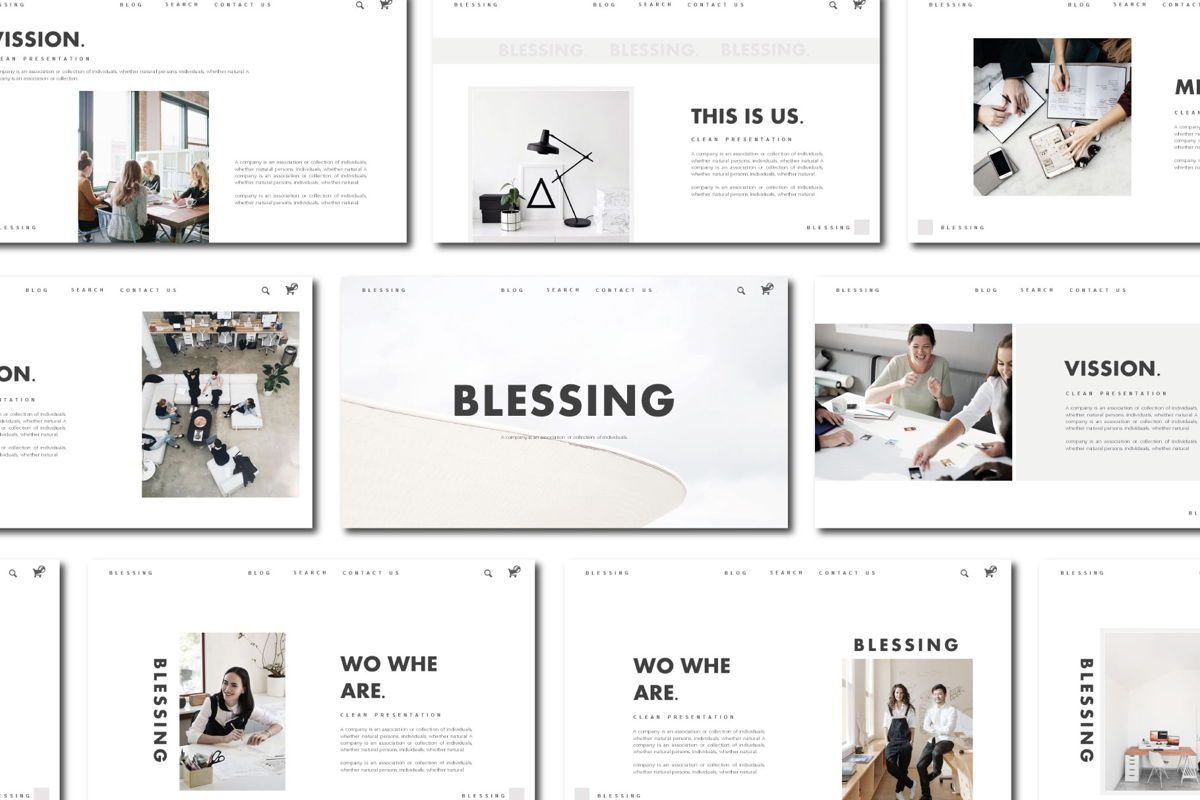 Blessing - PowerPoint Template, 04552, Presentation Templates — PoweredTemplate.com