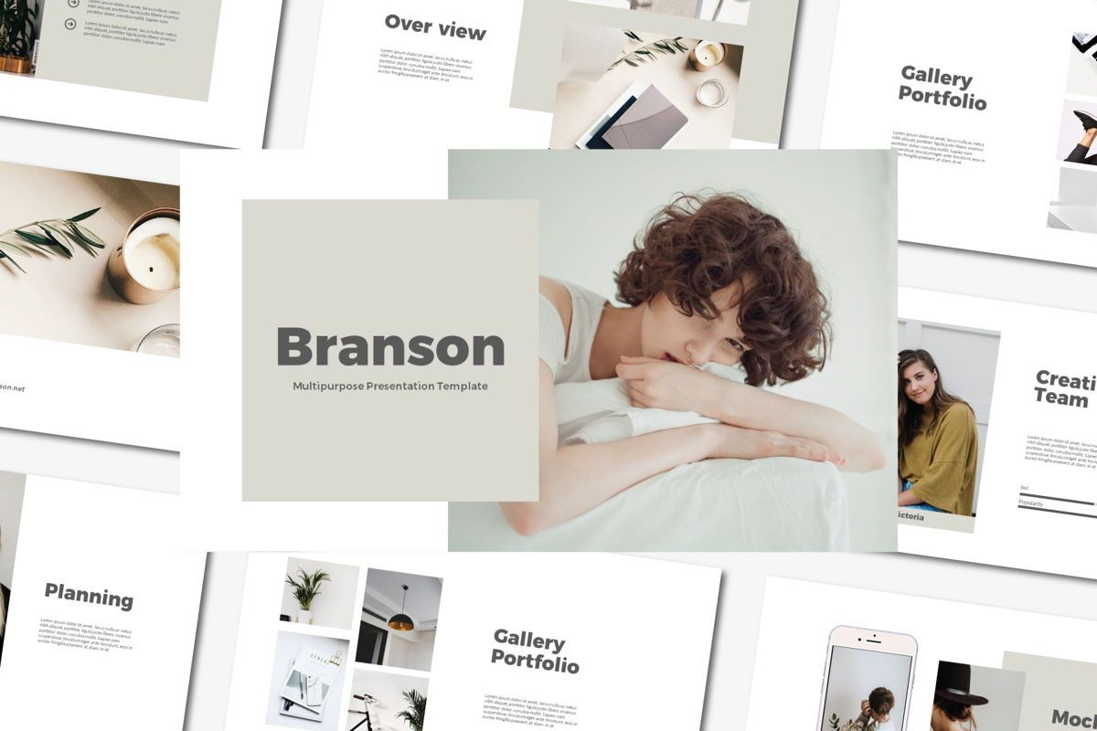 Brandson - PowerPoint Template, 04555, Presentation Templates — PoweredTemplate.com