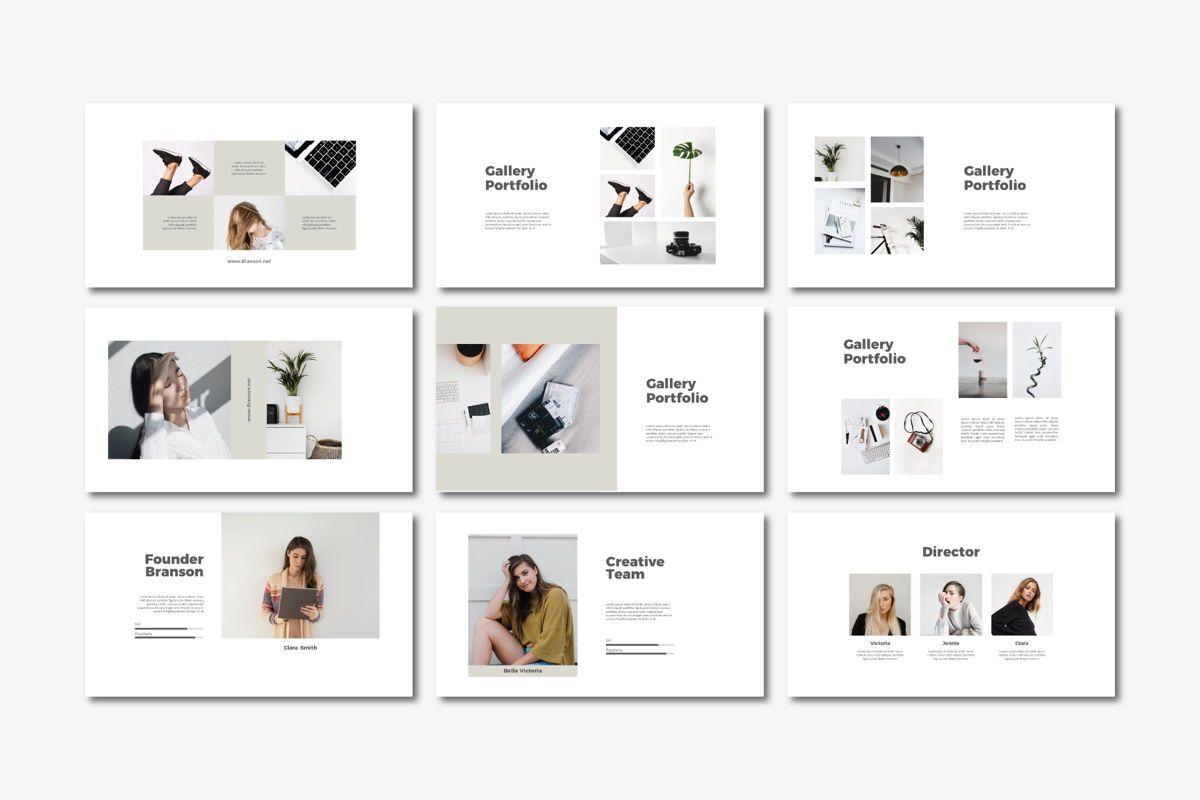 Brandson - PowerPoint Template, Slide 4, 04555, Presentation Templates — PoweredTemplate.com