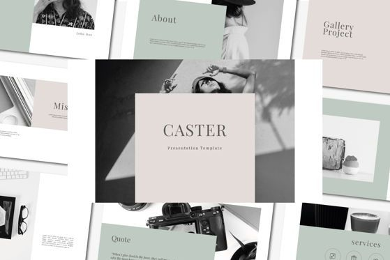Presentation Templates: Caster - PowerPoint Template #04556
