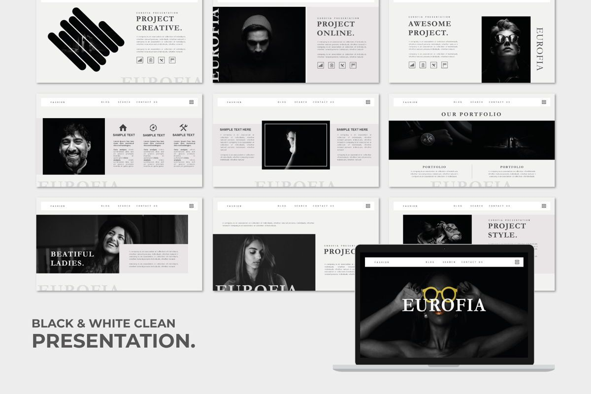 Eurofia - PowerPoint Template, Slide 2, 04557, Presentation Templates — PoweredTemplate.com