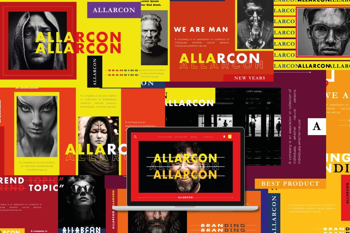 Allarcon - PowerPoint Template, 04558, Presentation Templates — PoweredTemplate.com
