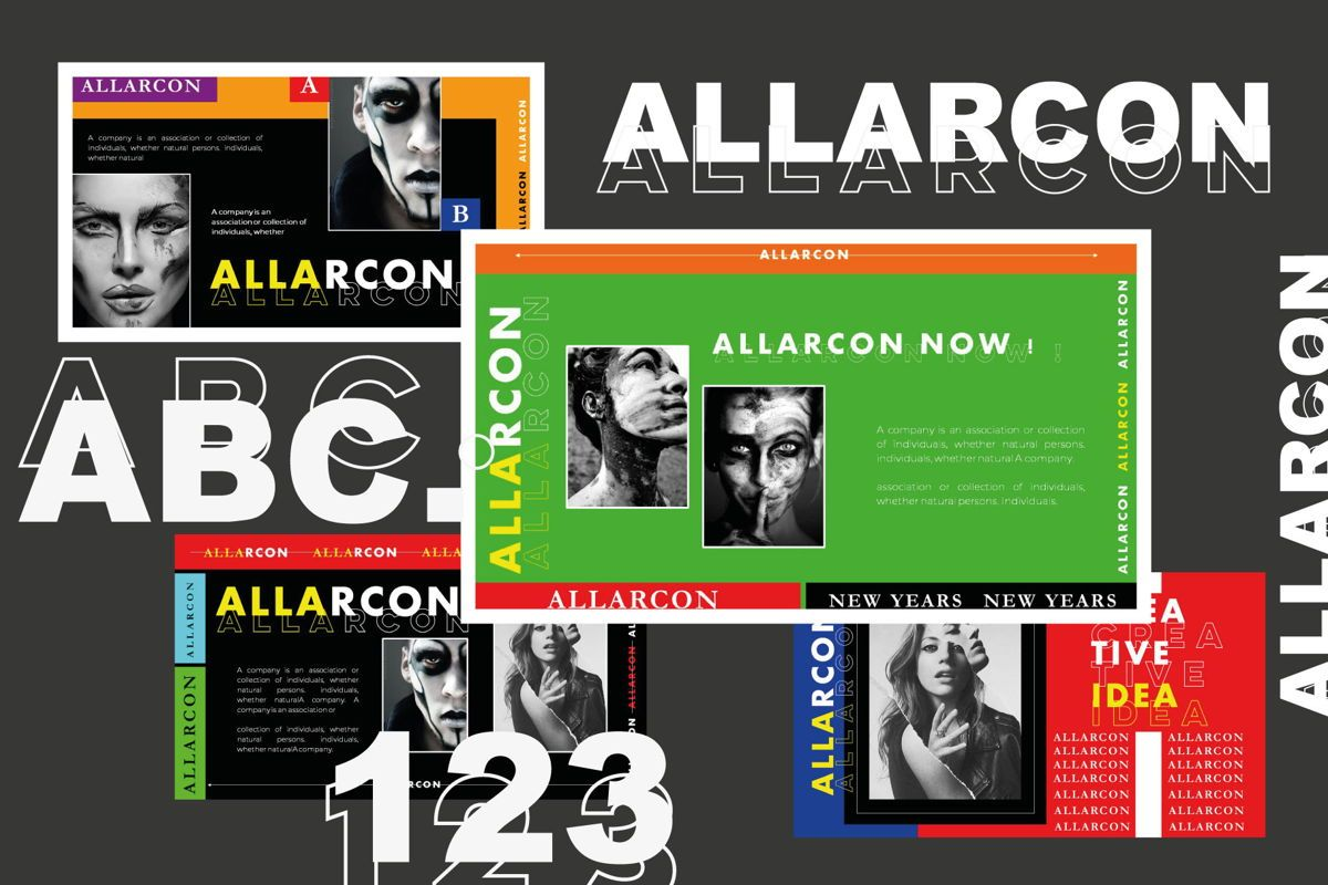 Allarcon - PowerPoint Template, Slide 6, 04558, Presentation Templates — PoweredTemplate.com