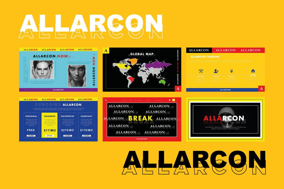 Allarcon - PowerPoint Template, Slide 7, 04558, Presentation Templates — PoweredTemplate.com