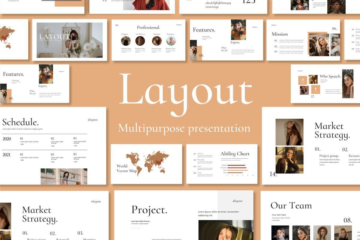 Layout Vol 2 - PowerPoint Template, 04559, Presentation Templates — PoweredTemplate.com