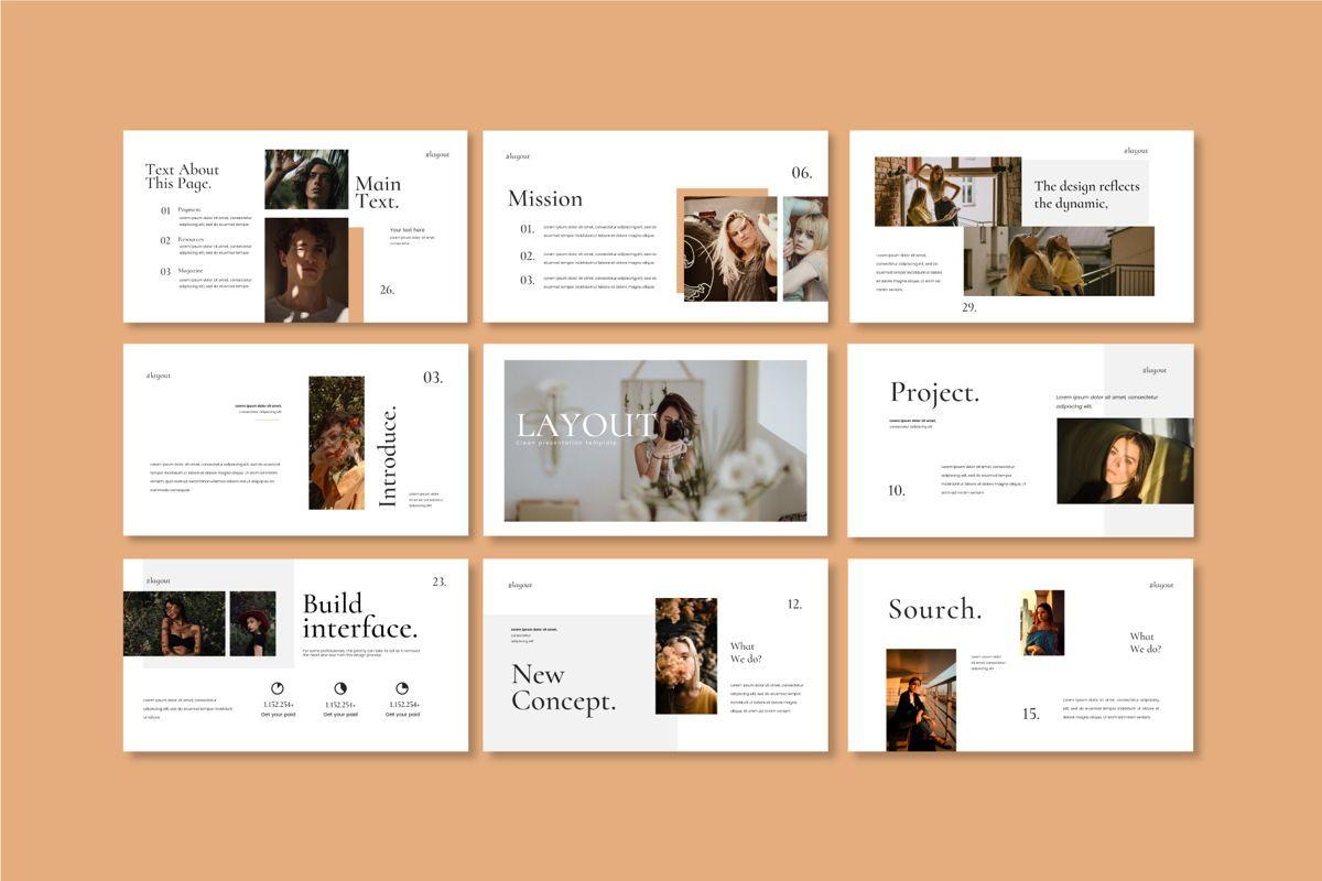 Layout Vol 2 - PowerPoint Template, Slide 6, 04559, Presentation Templates — PoweredTemplate.com