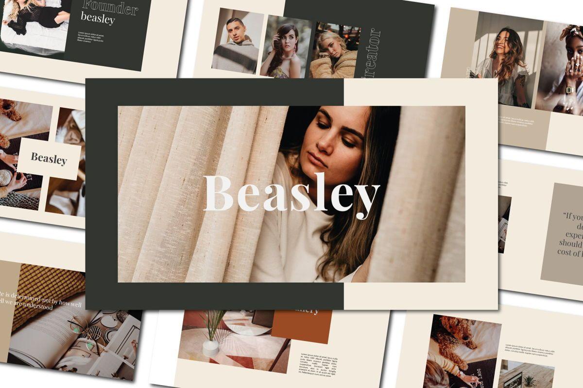 Beasley - PowerPoint Template, 04560, Presentation Templates — PoweredTemplate.com