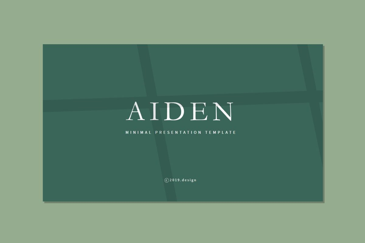 Aiden - PowerPoint Template, 04561, Presentation Templates — PoweredTemplate.com