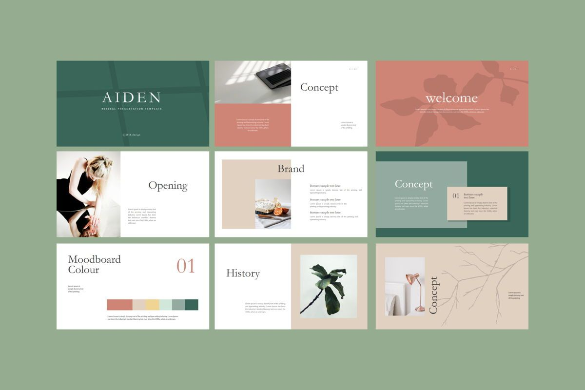 Aiden - PowerPoint Template, Slide 6, 04561, Presentation Templates — PoweredTemplate.com