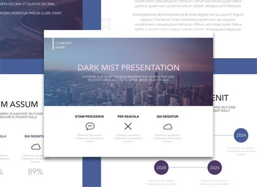 Presentation Templates: Dark Mist Keynote Presentation Template #04569