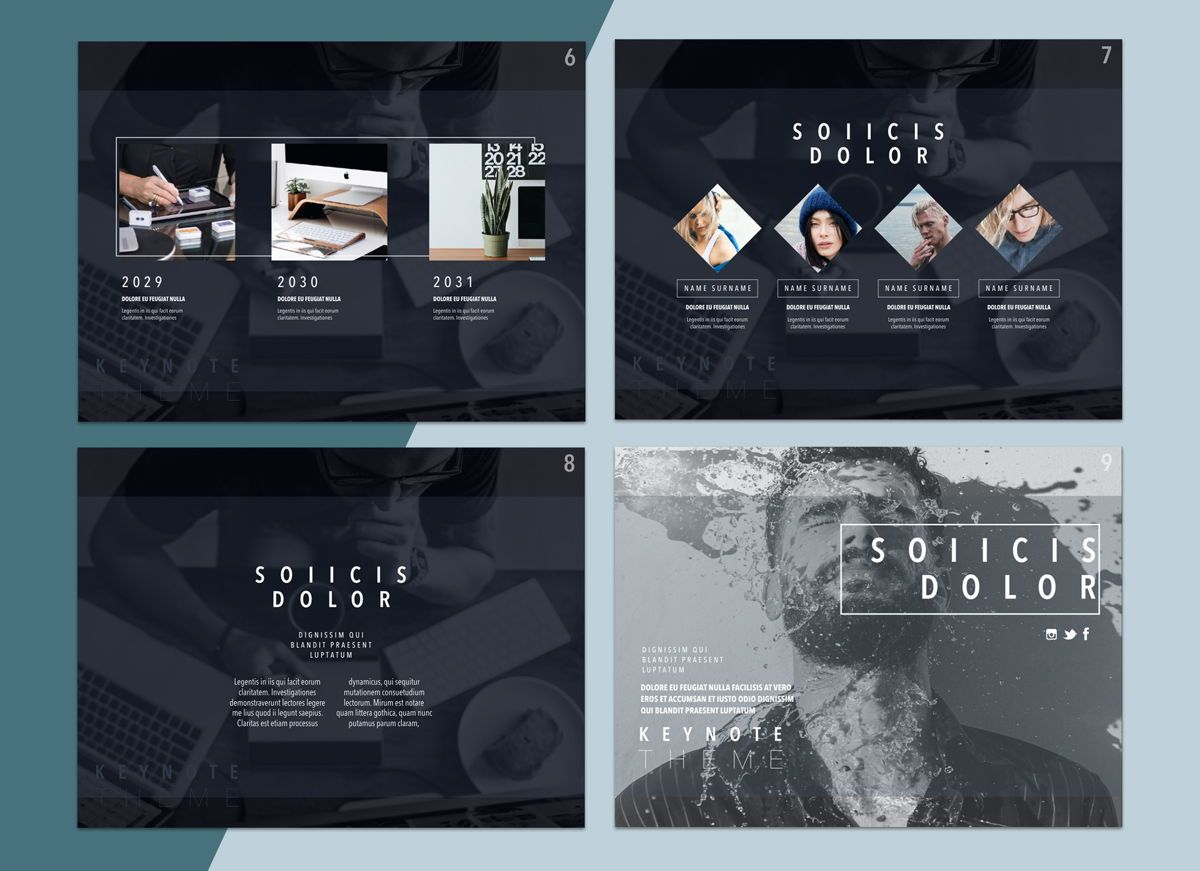 Lucid Dream 02 Keynote Presentation Template, Folie 2, 04576, Präsentationsvorlagen — PoweredTemplate.com