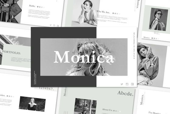 Presentation Templates: MONICA - PowerPoint Template #04581